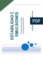 (Ppt)Estabilidad de Emulsiones