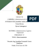 LOGISTICA ALMACEMAMIENTO  OPERACIONES DEL ALMACÉN