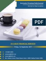 Derivative Premium Daily Journal