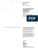 AC Energy Subsystem and Interfaces to Rolling Stock Subsystem