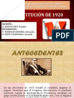 Constitución de 1920 Terminada