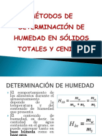 Métodos de Determinación de Humedad en Sólidos Totales
