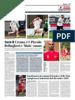 La Provincia Di Cremona 01-09-2017 - Serie B