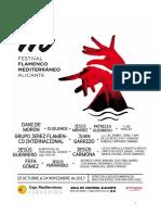 Dossier. I Festival de Flamenco 2017. Aula de Cultura de Alicante. Fundación Caja Mediterráneo