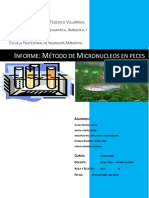 Informe de Metodo de Micronucleos en Peces