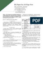 Sample Paper IEEE Format