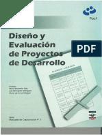 Diseño y Evaluacion de Proyectos de Desarrollo
