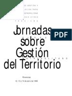 Nuevas Jornadas Sobre Gestion de Territorio 1999