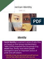 americn identity unit 1 1
