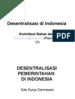 Desentralisasi Di Indonesia