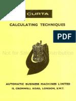 CURTA - Calculating Techniques