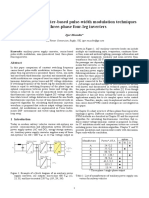 Comparison of Carrier-based Pulse-width Modulation Techniques for Three-phase Four-leg Inverters