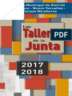 Programa de actividades y talleres de la JMD Loranca, Nuevo Versalles, Parque MIRAFLORES -Curso 2017-18