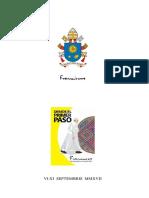 Libro de oraciones para todas las misas que tendrá el papa en Colombia