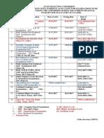Nic Revised Exam Calendar-2018