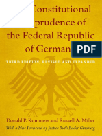 The Constitutional Jurisprudence of the Federal Republic of Germany