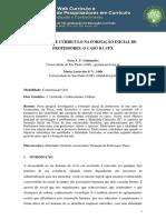 IDENTIDADE E CURRICULO NA FORMAÇÃO INICIAL DE PROFESSORES