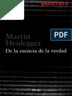 M. Heidegger - De La Esencia de La Verdad (Sobre La Parábolas de La Caverna y El Teeteto de Platón) [1931-1932] (1)