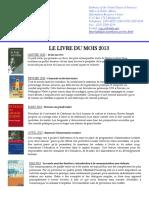 Catalogue LivredumoisList2013