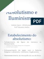 Absolutismo e Iluminismo Impressão