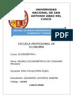 Modelo Econométrico Del Consumo Privado en El Perú
