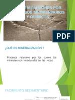 Mineralizacion Procesos Sedimentarios y Quimicos Material de Apoyo