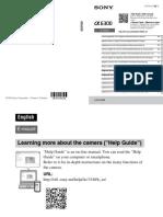 Manual Sony a6300