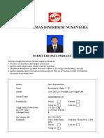 Form Isian Kandidat - Pt.sdn