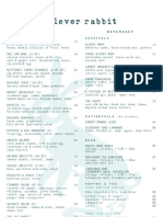 Clever Rabbit Brunch Menu