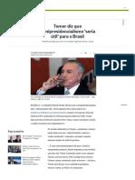 Temer diz que semipresidencialismo 'seria útil' para o Brasil - Jornal O Globo.pdf
