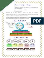 Lectura de la hora en relojes análogos