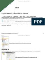 Pasos Para Autorizar ArcMap Single Use _ GMT Tech Support