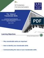 Workshop Transferable Skills