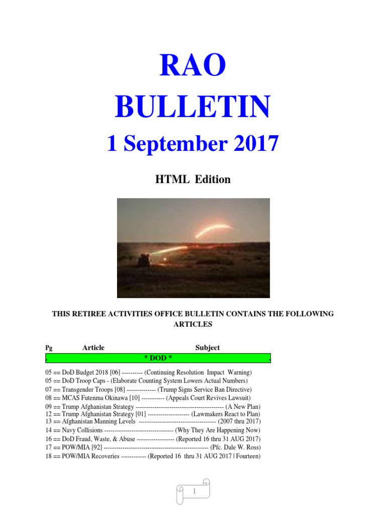 bulletin 170901 html edition donald trump united states government rh scribd com