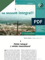 Padilla, Rene. Que Es La Mision Integral.