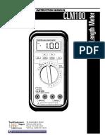 Clm100 Manual Medidor de Longitud de Cables