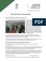 Mezzanine Floors Fire Protection