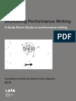 (W)reading Performance Writing