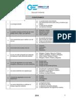 Cuestionario Para Exámenes Estudiantes