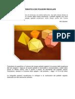 La Matematica Dei Poliedri Regolari