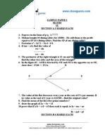CBSE Sample Paper Class Ix Maths 2006 05
