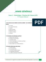 UE1 Chimie Cours 1 - Structure Électronique , Atomistique Tutorat 2014-2015)