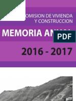 Memoria de Comisión de Vivienda y Construcción 2016 - 2017