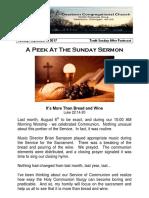 Pastor Bill's Newsletter - September 3, 2017