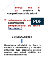 Inventarierea Ua Si Predarea La Compartimentul de Arhiva
