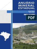 Anuário Mineral Estadual Santa Catarina Anos Base 2010 a 2013
