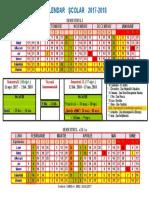 Calendar Scolar 2017-2018