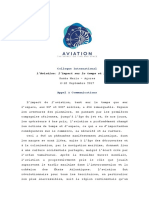 Appel à communications _ L'Aviation- l'impact sur le temps et l'espace _ Forum LPAZ