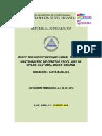 Pliego de Base Mantenimiento de Centros Escolares de Sipilde,Guayabal,Casco Urbano.