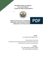 """""""SÍNTESIS DE ANÁLOGOS DE 7-CLOROQUINOLIL-4-ILTIO Y DEL BENZOTIAZOL. EVALUACIÓN DE SU POTENCIAL ACTIVIDAD ANTIMALÁRICA Y CITOTÓXICA-ANTITUMORAL"""" AUTOR  LIC. JESÚS ANTONIO ROMERO LUGO"""